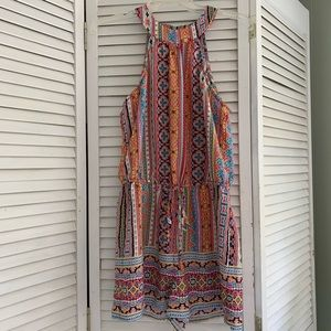 BeBop colorful halter romper EUC  medium